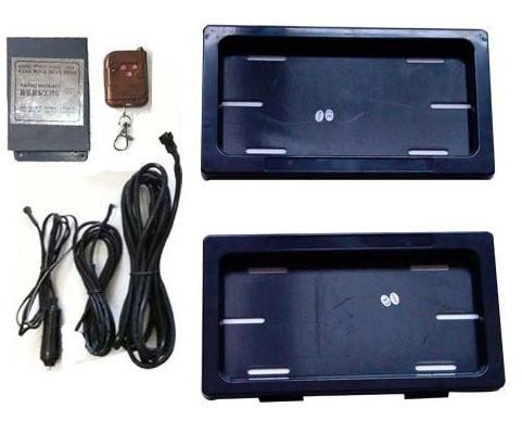 USA Curtain-Covered Remote Control Hidden License Plate System S