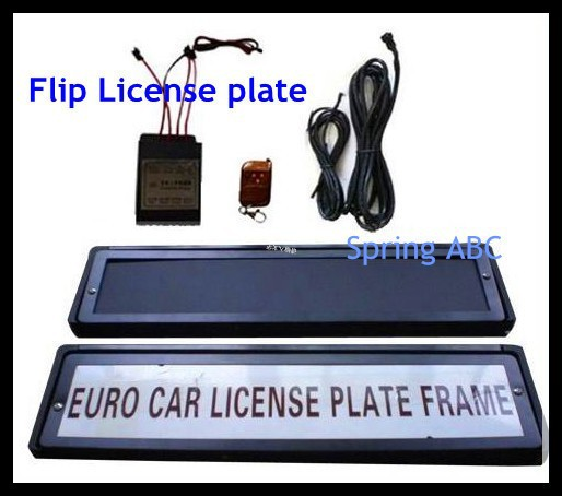 European Version flipping number plate Car number plate rotator