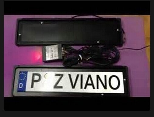 European Version License Plate Flipper Automatic Flip Over Frame