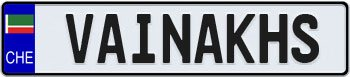 Chechnya European License Plate