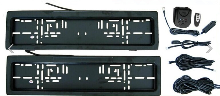 European Style Remote-controlled License Plate Privacy Cover