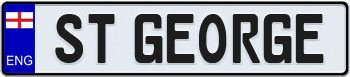 England European License Plate